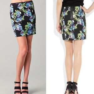 Elizabeth and James - scuba floral print skirt